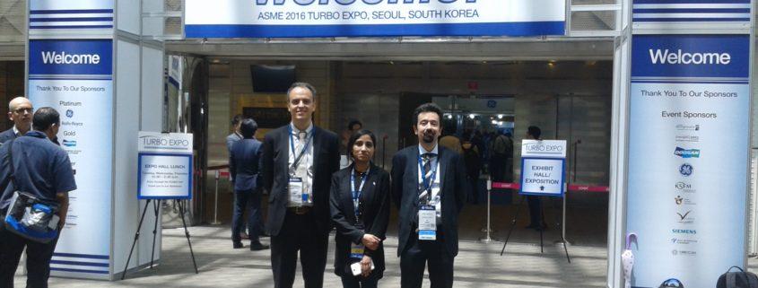 A.Traverso, M.Mahmood and M.Ferrari at 2016 ASME Turbo Expo in Seoul, South Korea