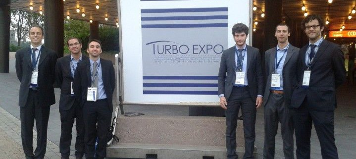 Date: June 2014. Location: Dusseldorf, Germany.  TPG at the ASME TURBO EXPO 2014. From the left: Alberto Traverso, Alessandro Sorce, Paolo Pezzini, Fabio Lambruschini, Luca Larosa, Stefano Barberis.