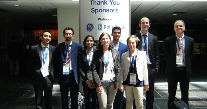 TPG staff at the ASME Turbo Expo 2017 (Charlotte, NC -USA): (from the left) Dr. Paolo Pezzini, Prof. Mario L. Ferrari, Mariam Mahmood, Dr. Valentina Zaccaria, Alessio Abrassi, Dr. Alessandra Cuneo, Dr. Iacopo Rossi and Prof. Alberto Traverso.