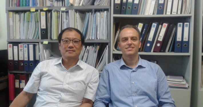 Prof. T.S. Kim and Prof. A. Traverso at Inha University, South Korea, June 2016